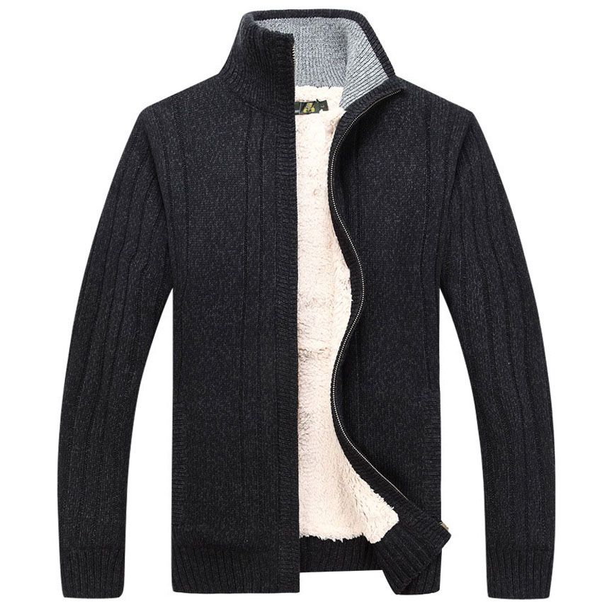 MERAKI Mens Ribbed Winter Jumper