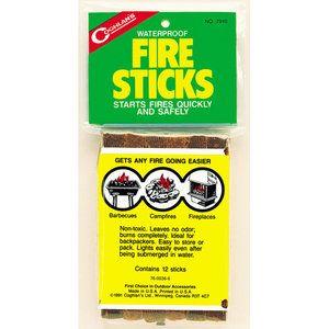Coghlan/'s Waterproof Fire Sticks Starter 12pk#7940