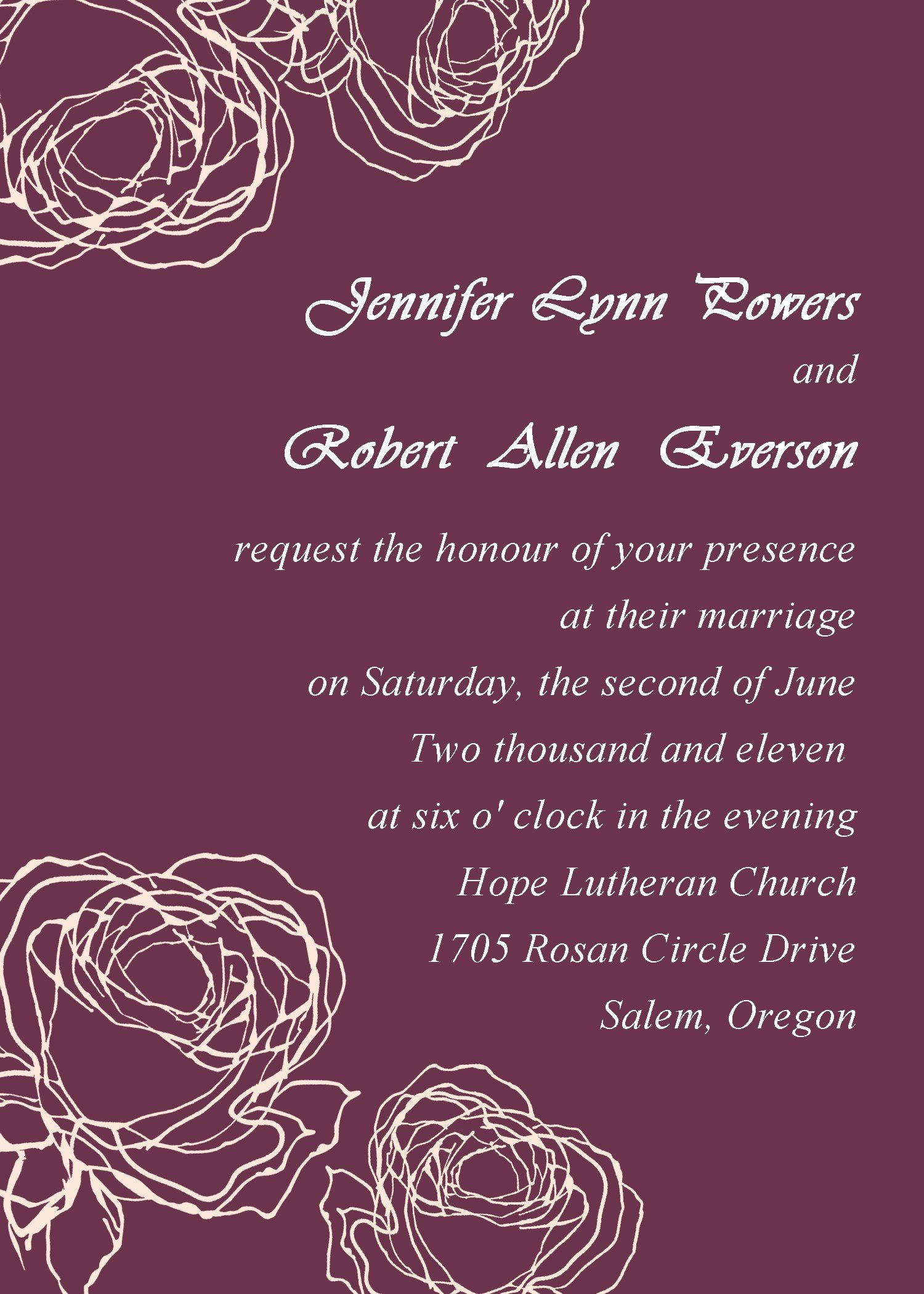 Marriage Invitation Cards Free Wedding