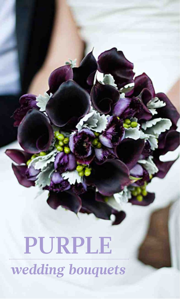 Purple Wedding Bouquets | Martha Stewart Weddings - Browse purple bouquet options in various styles and blooms.