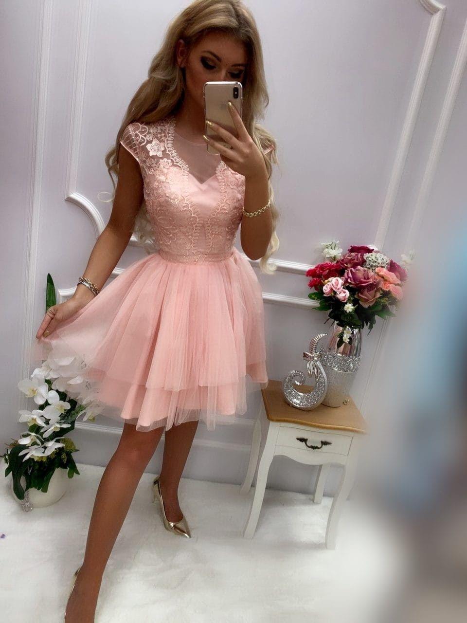 Sukienka Lososiowa Koronkowa Izaura Tiul Bombka Sukienki W Mohho Pl Tulle Fashion Tulle Skirt