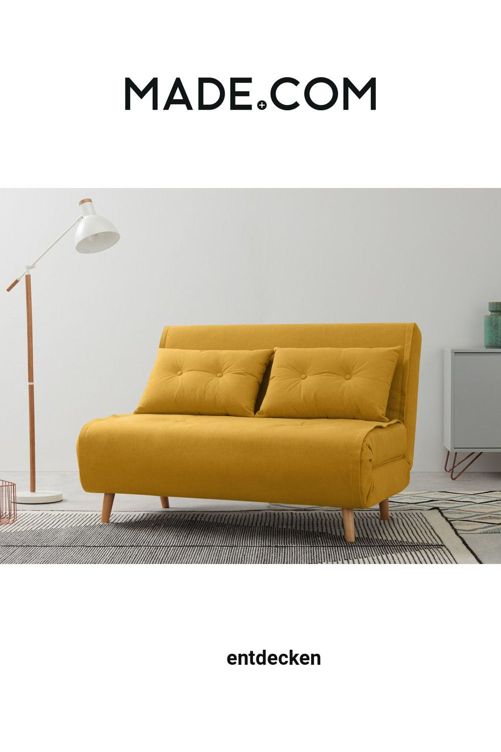 Made Schlafsofa Gelb In 2020 Sofa Small Sofa Yellow Sofa