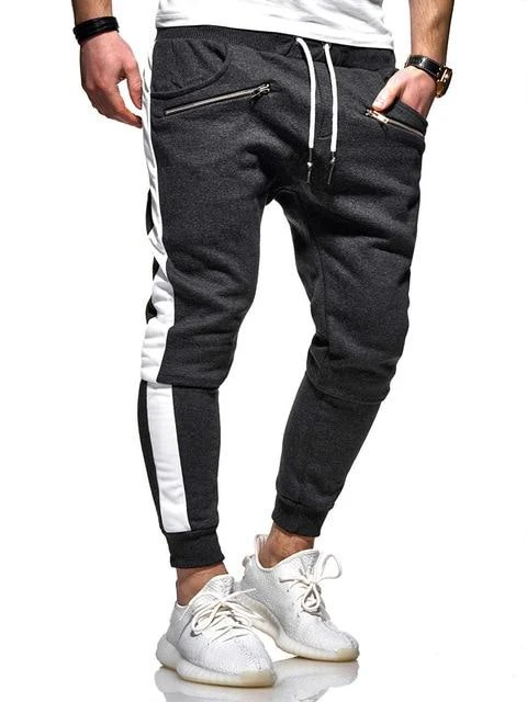 Luck Man Men Casual Skinny Pants Male Polyester Cotton Hip Hop Harem Jogger Trousers Mens Pocket Sweatpants