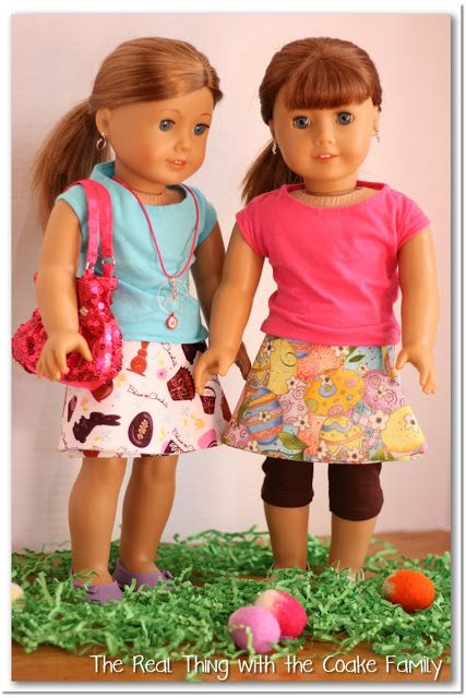 Free Doll Clothes Pattern to make a reversible wrap skirt is part of Clothes Patterns Free - Free Doll Clothes Pattern to make a cute reversible wrap skirt for you American Girl Doll or 18  doll  The pattern is quick and easy and tips are provided