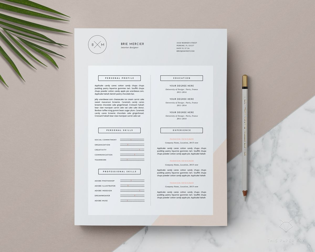 Minimal Resume Template By This Paper Fox On