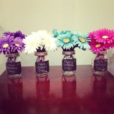 Flower Pens In Assorted Colors DIY Spring Party Table Decor