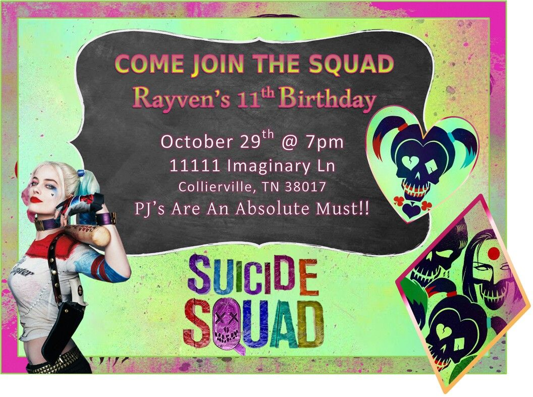 Invitations Joker Party Ideas Pinterest Harley Quinn