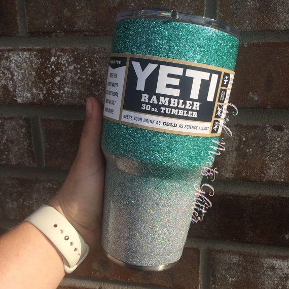 Ombre Glitter Dipped Yeti Rambler 30oz By Girlmeetsglitter