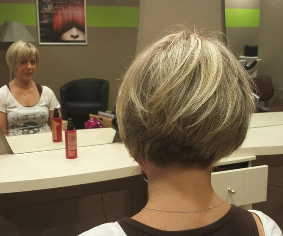 Short Bob On Fine Hair Graduated Tightly To A Very Short Nape
