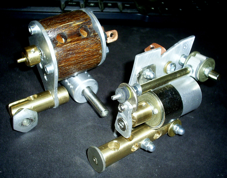 First & second rotary tattoo machines - right machine - shader ...