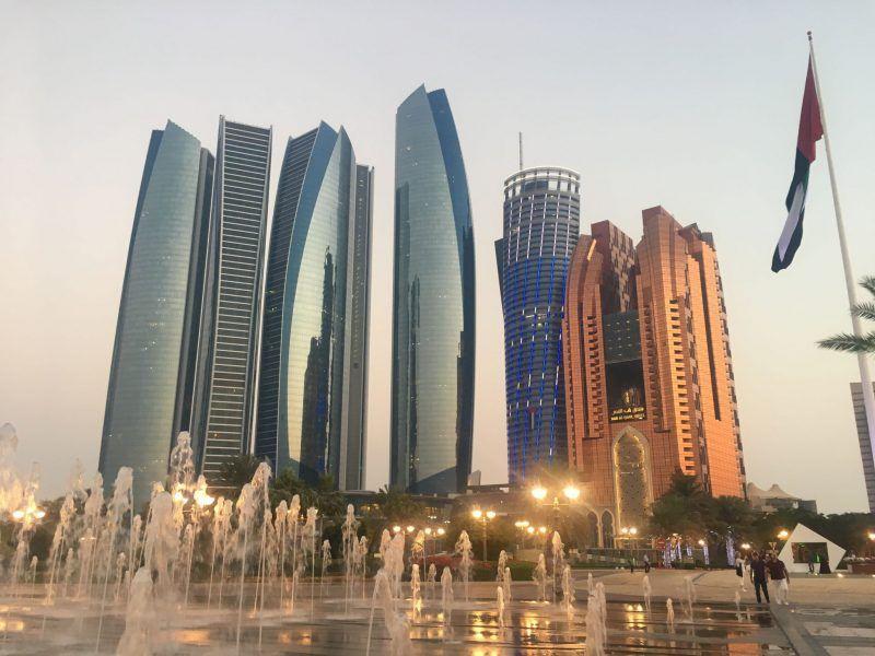 Abu dhabi skyline and etihad towers abu dhabi sheikh