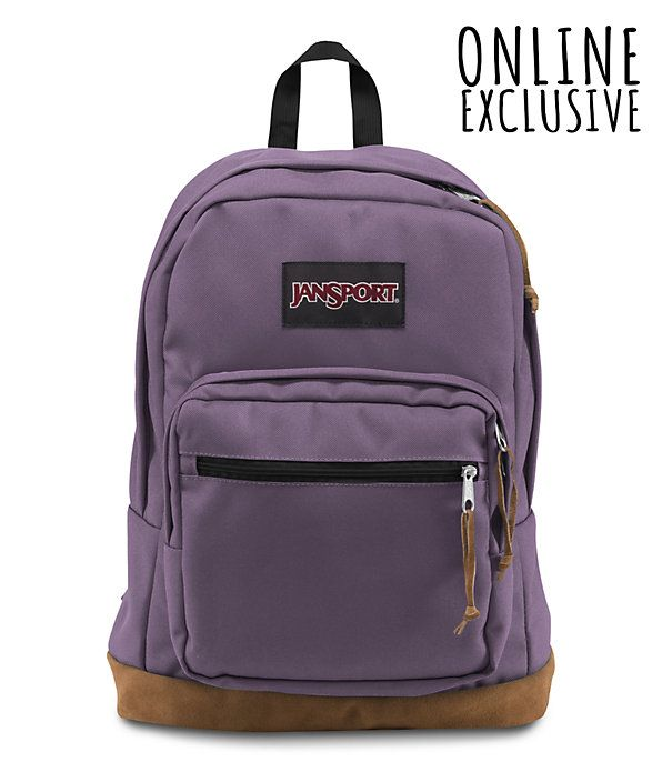 Right pack backpack | JanSport, Laptop sleeves and Suede leather