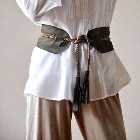 Diy Leather Belts W Tassels Diy Leather Belt Diy Corset