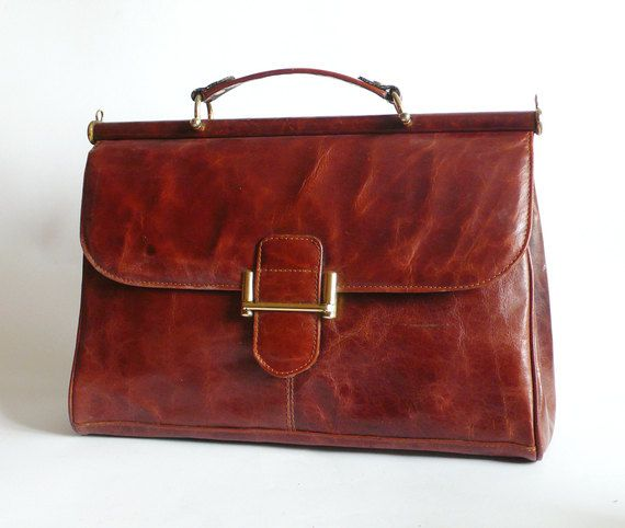 1960'S Leather SCHOOL Bag
