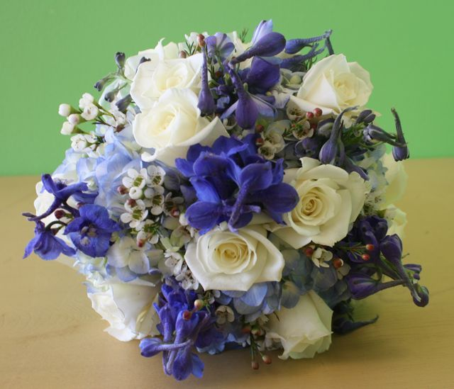 Blue And White Wedding Flowers Package Deal Wedding Flower Packages Fresh Flower Bouquets Wedding Wedding Bouquets