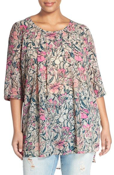 2e02197f99cf1 JUNAROSE  Roy  Print High Low Tunic (Plus Size) available at  Nordstrom
