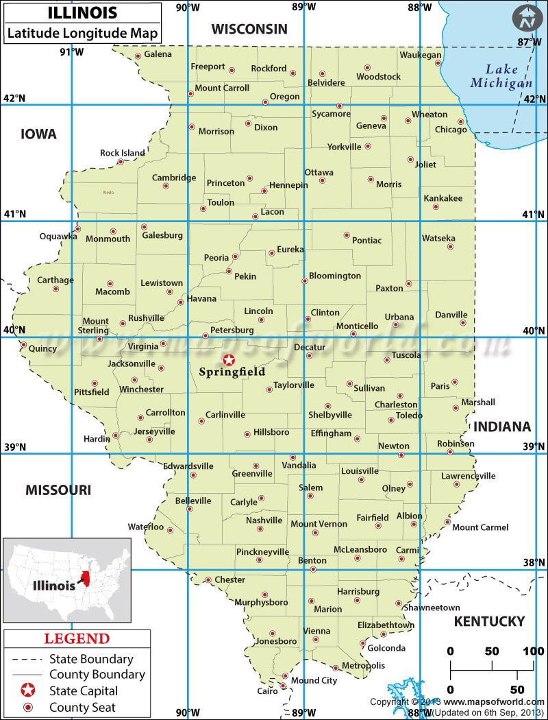 Harrisburg Illinois Map.Illinois Latitude And Longitude Map 4th Grade Social Studies