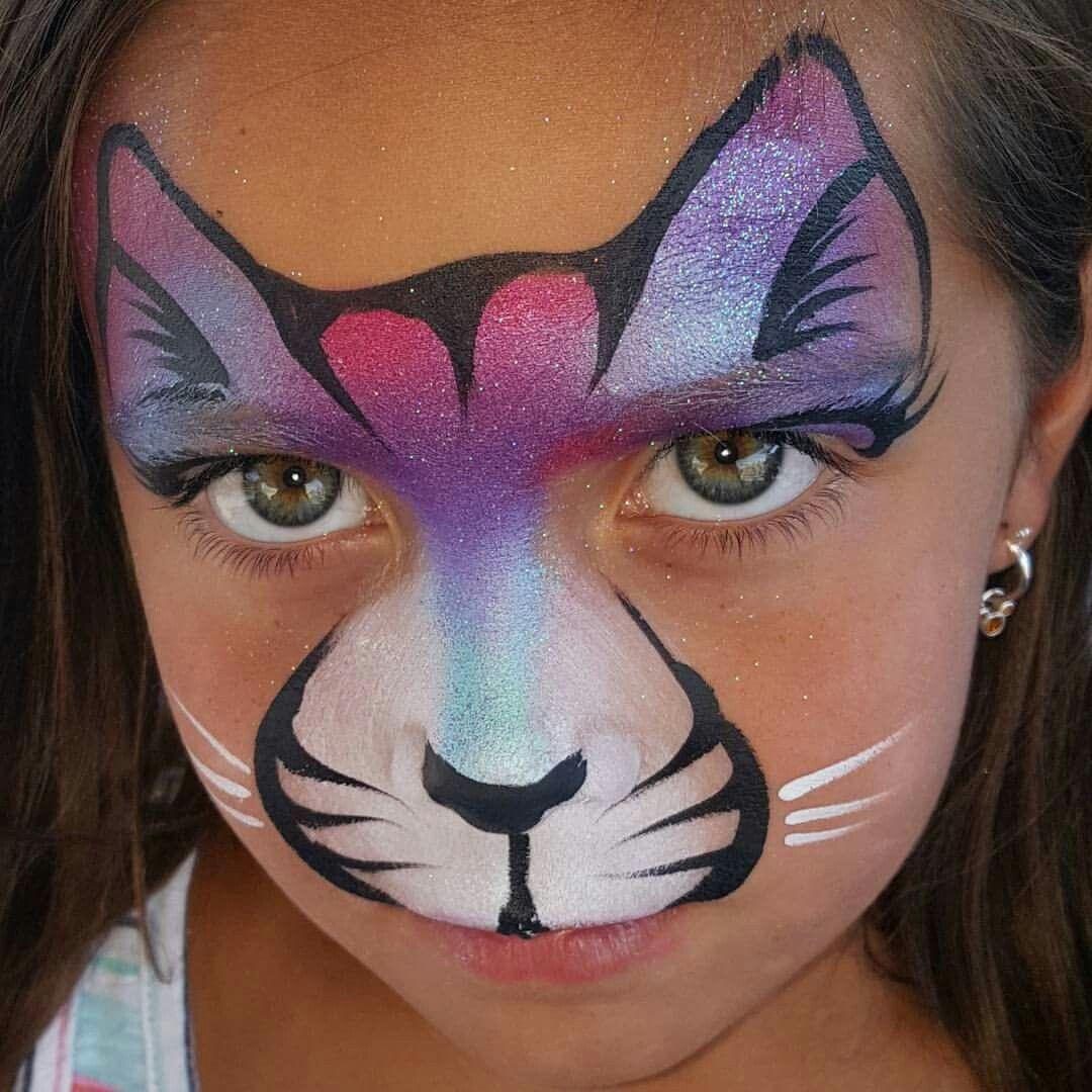 Face painting easy cat design gezichtsverf schminken