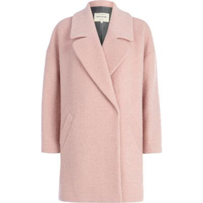 Light pink boucle oversized coat | WHAT TO WEAR — fashion, outfit ...