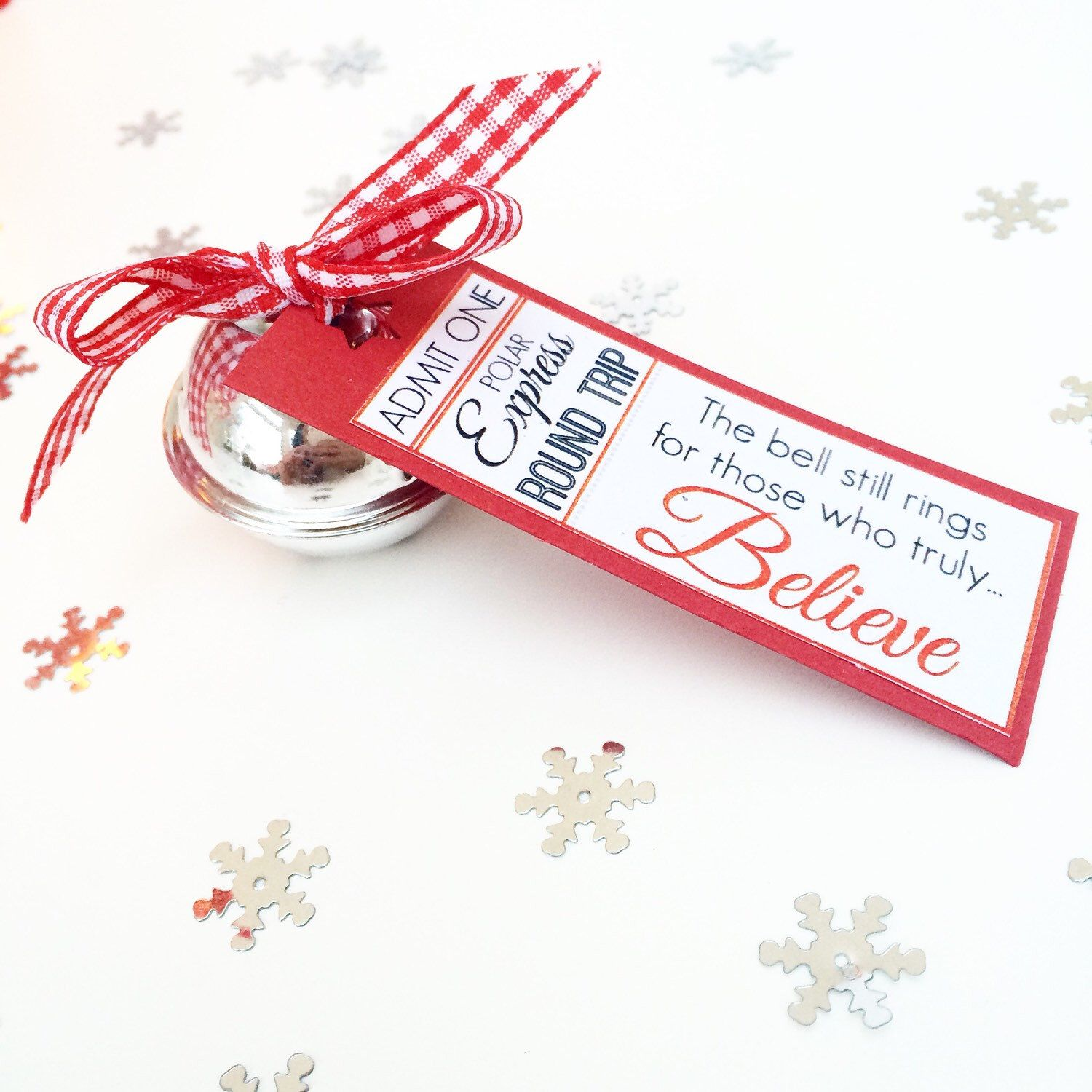 Polar Express Bell, Train Ticket Christmas Decoration, Believe Bell ...
