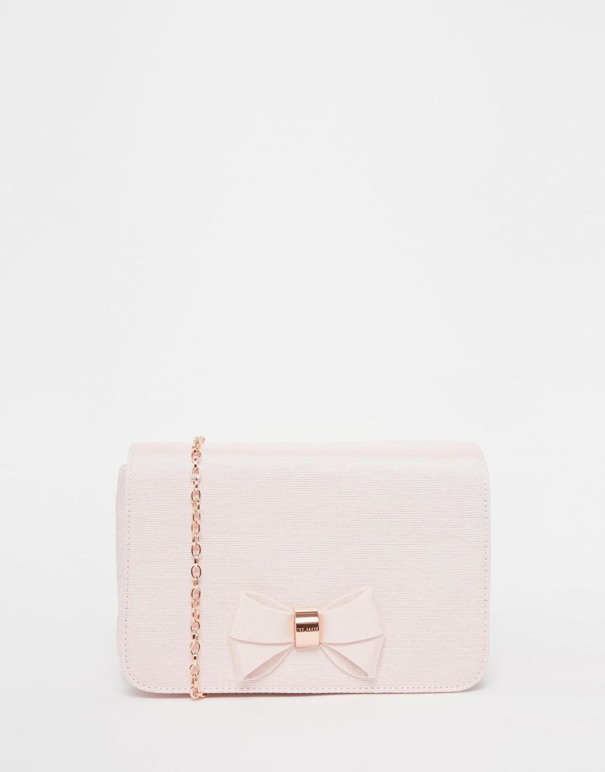 fd0b7bc12d3b7b Image 1 of Ted Baker Bow Clutch Bag
