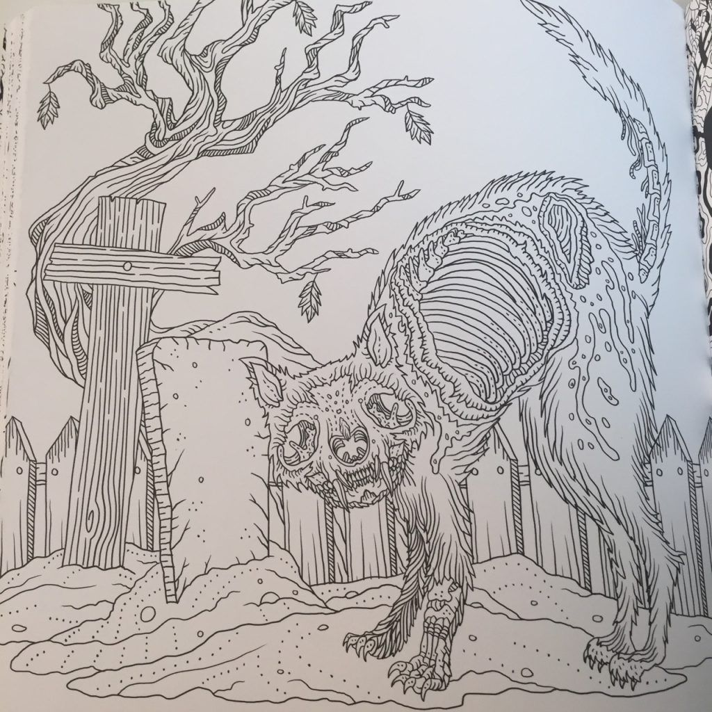 The Beauty of Horror - A Gorgeous Coloring Book | Coloring ...