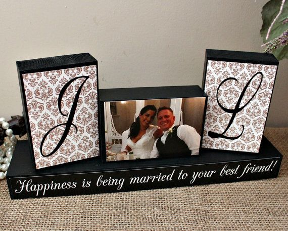 Personalized Unique Wedding Gift For Couples Wood Sign Shower Ideas Happiness Is Being Married To Your Best Friend