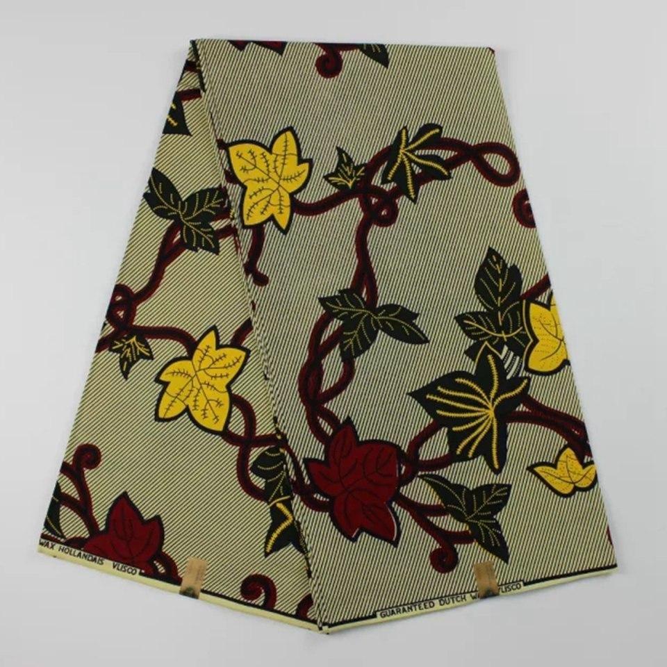 Real Dutch Wax African Super Wax Hollandais Print Fabric High Quality 6  Yards… e42ec271e6