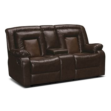 Superb Cobra Leather Dual Reclining Loveseat Value City Furniture Cjindustries Chair Design For Home Cjindustriesco