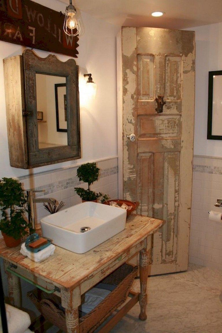 65 Staggering Shabby Chic Bathroom Decor Ideas Rustic Bathroom Vanities Chic Bathroom Decor Shabby Chic Bathroom Decor