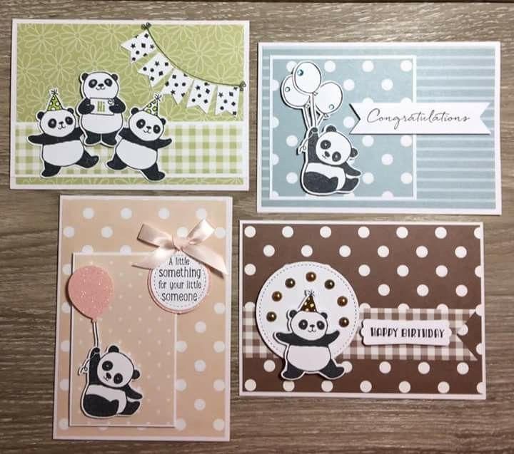 party pandas stampin up scrapping and card making pinterest