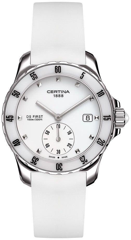 Certina Watch DS First Lady Ceramic Quartz  bezel-unidirectional   bracelet-strap-rubber  brand-certina  case-material-steel   case-width-34-8mm  classic ... 5f8f3ba839b