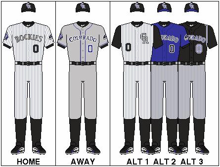 low priced c4eb9 3118f Colorado Rockies uniform set   Sports   Baseball uniforms ...