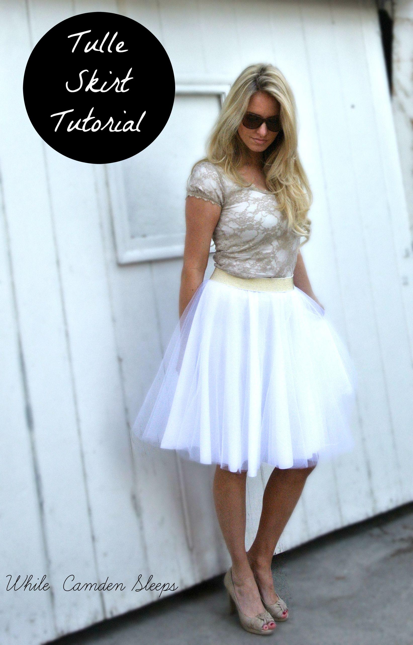 32a62b188f8 DIY  The lazy girl way to make a circle tulle skirt. No seams