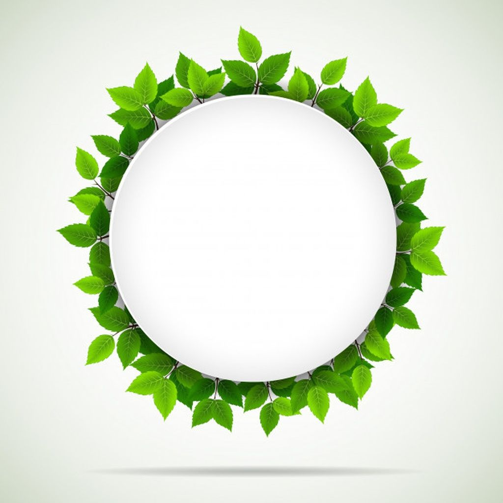Round frame with green leaves #paid, , #paid, #sponsored, #leaves, #green, #frame