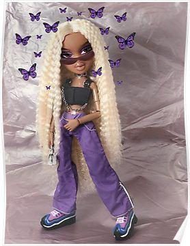 Bratz Butterfly Punk Sasha Poster Black Bratz Doll Bratz Doll