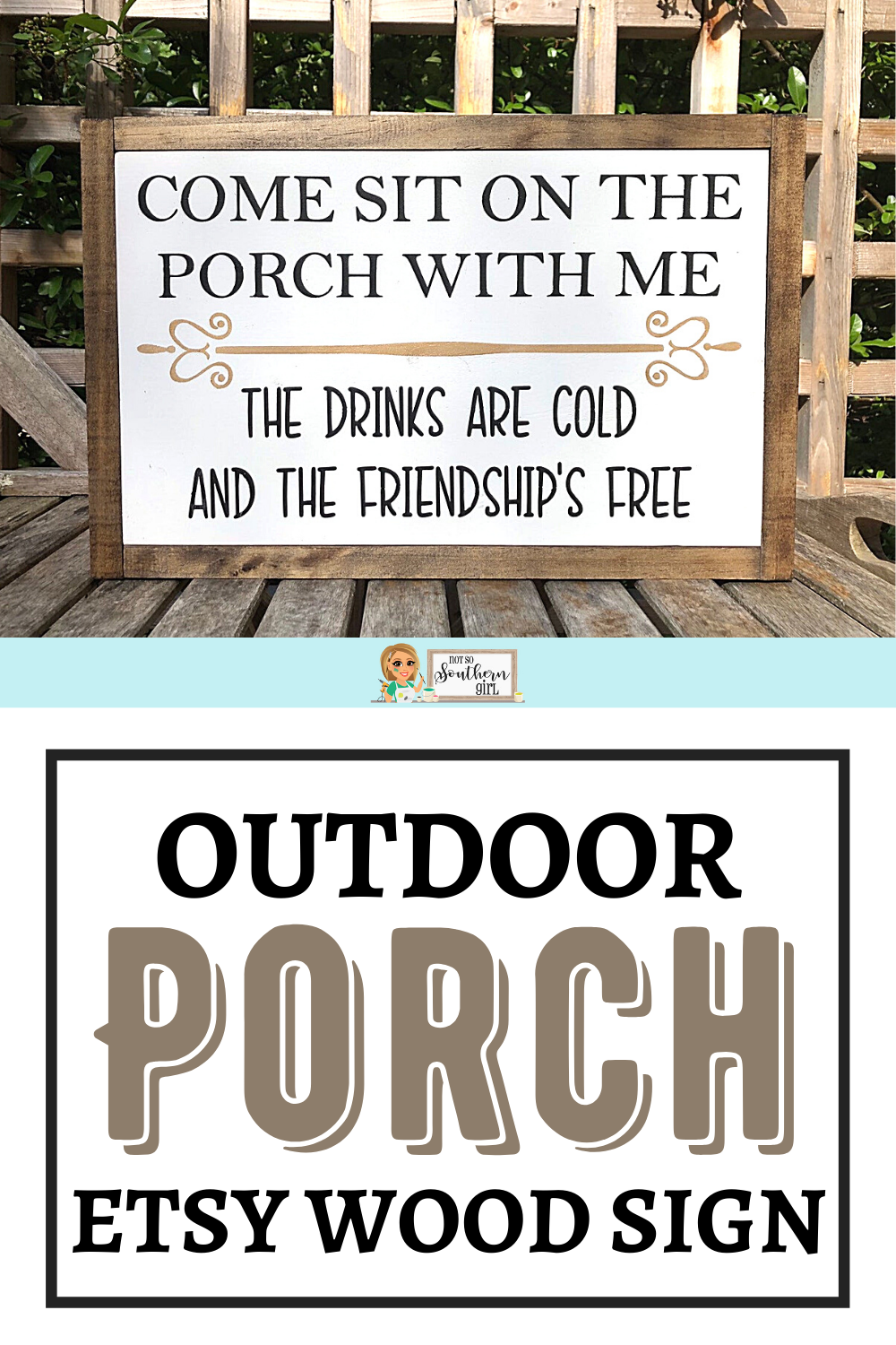Porch Wood Sign  Come Sit on the Porch With Me  Housewarming | Etsy