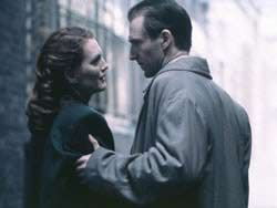 The End of the Affair--Julianne Moore, Ralph Fiennes, Beautiful Movie, wartime romance -era captured very well...based on a Graham Greene novel, jealousy and catholicism seem to appear in his novels and within this film...autobiographical perhaps?