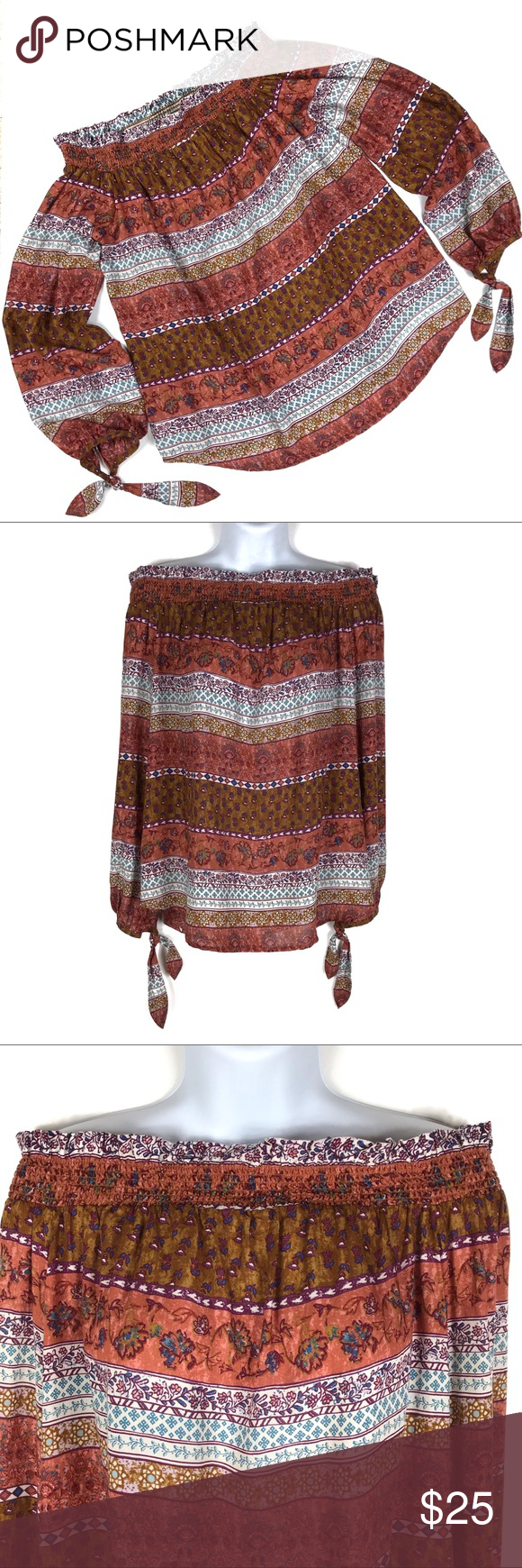 BeachLunchLounge Off The Shoulder Boho Top