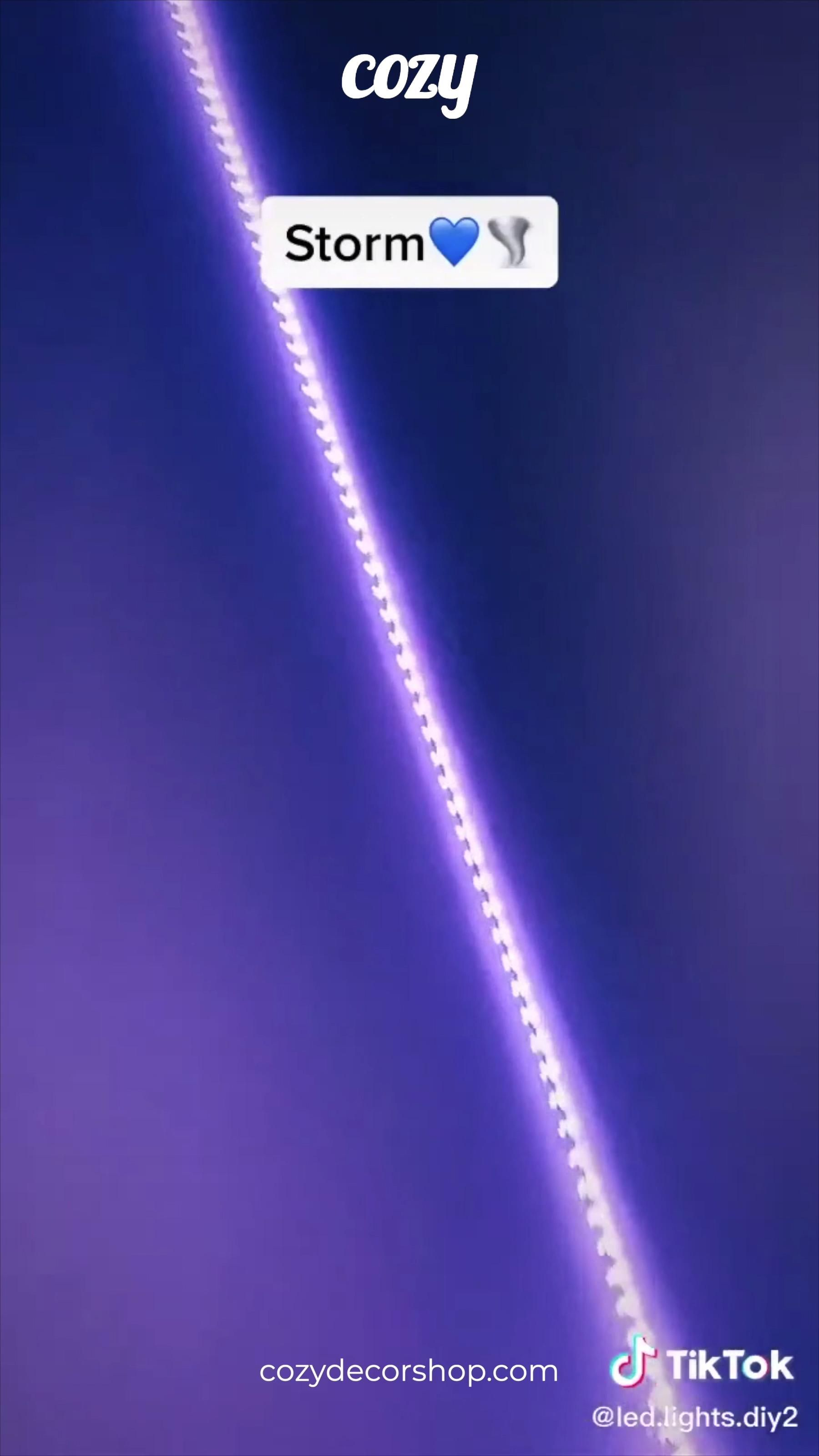 How To Make Storm Purple Led Lights Video Led Lighting Bedroom Purple Led Lights Led Strip Lighting