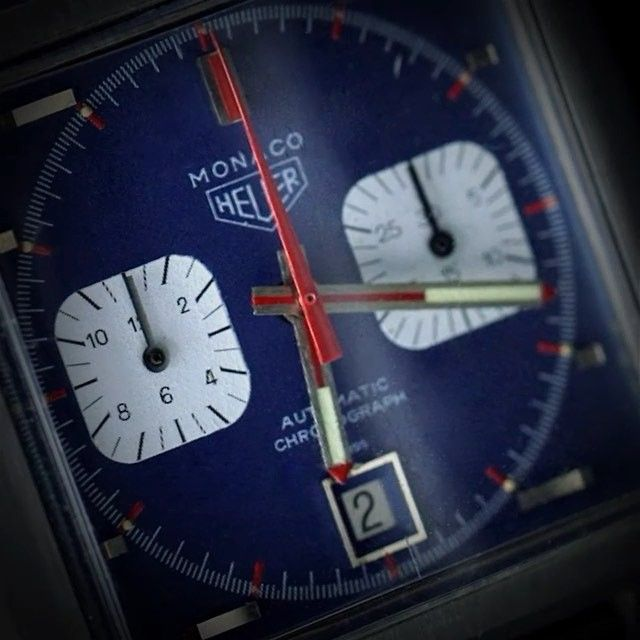 """This original Heuer Monaco was only one year old when the ""King of Cool"" Steve McQueen chose to wear it in ""Le Mans"" #VintageWatch #DontCrackUnderPressure"" Photo taken by @tagheuer on Instagram, pinned via the InstaPin iOS App! http://www.instapinapp.com (10/03/2015)"