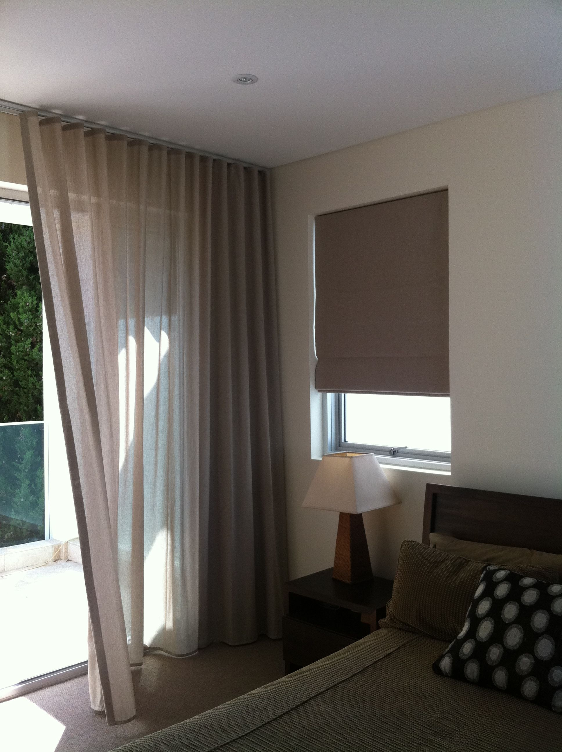 S Fold Sheer Curtain In Linen Blend Fabric With Coordinated