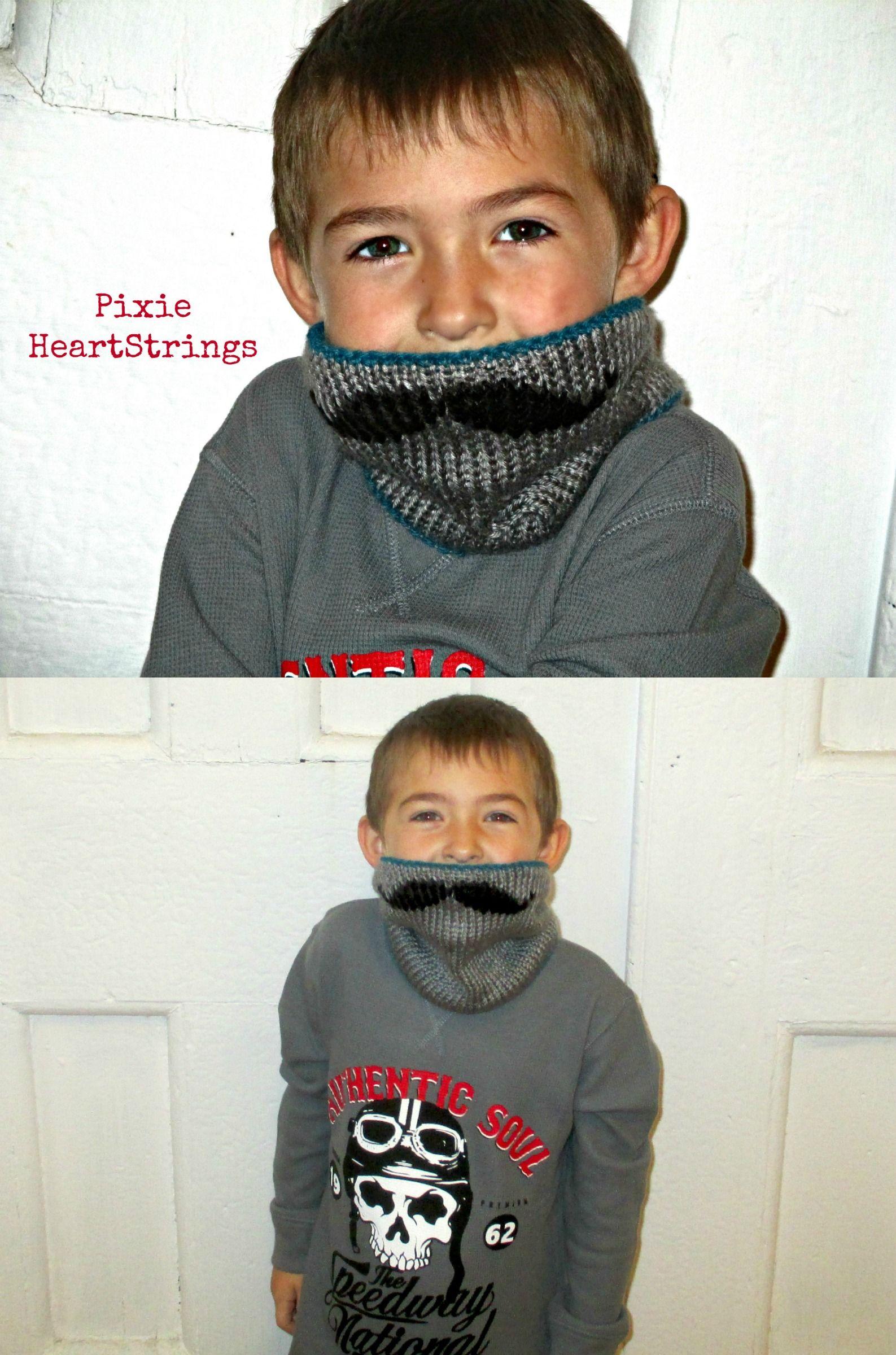 Knit mustache neck warmer free pattern link on pixie heartstrings crochet knit mustache neck warmer free pattern bankloansurffo Images