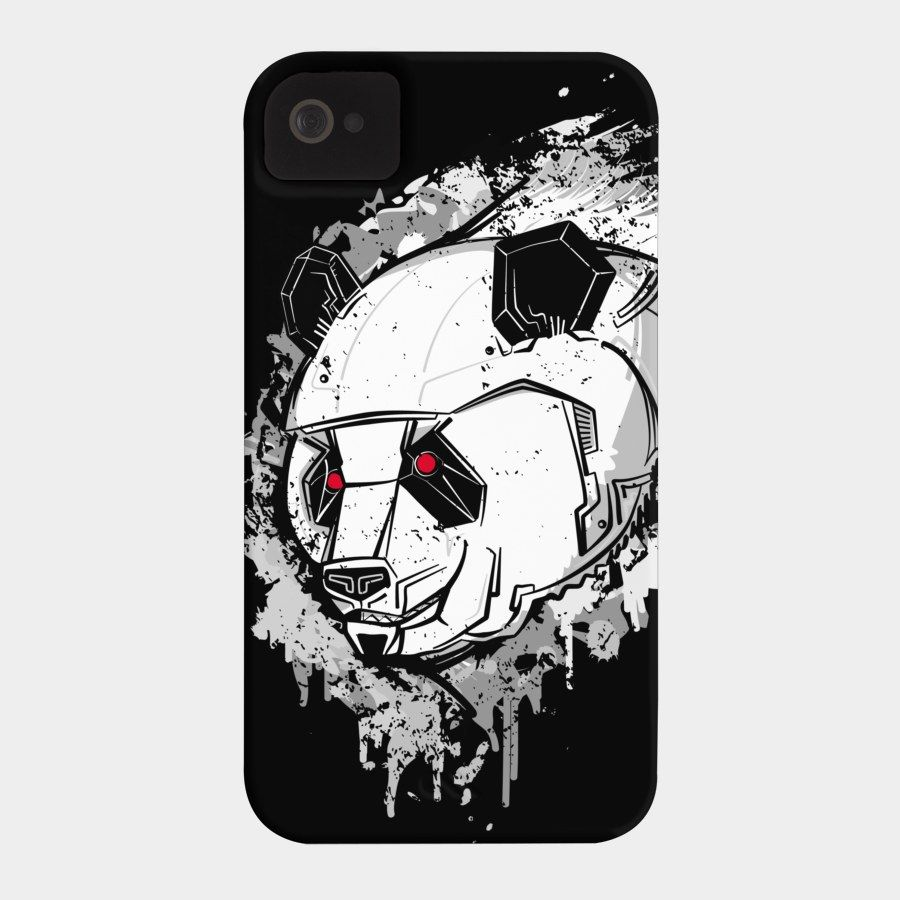 Grey Mecha Panda Case For iPod, iPhone, Or Galaxy by bortwein. Available in a selection of different color cases. Barely There and Tough case styles.