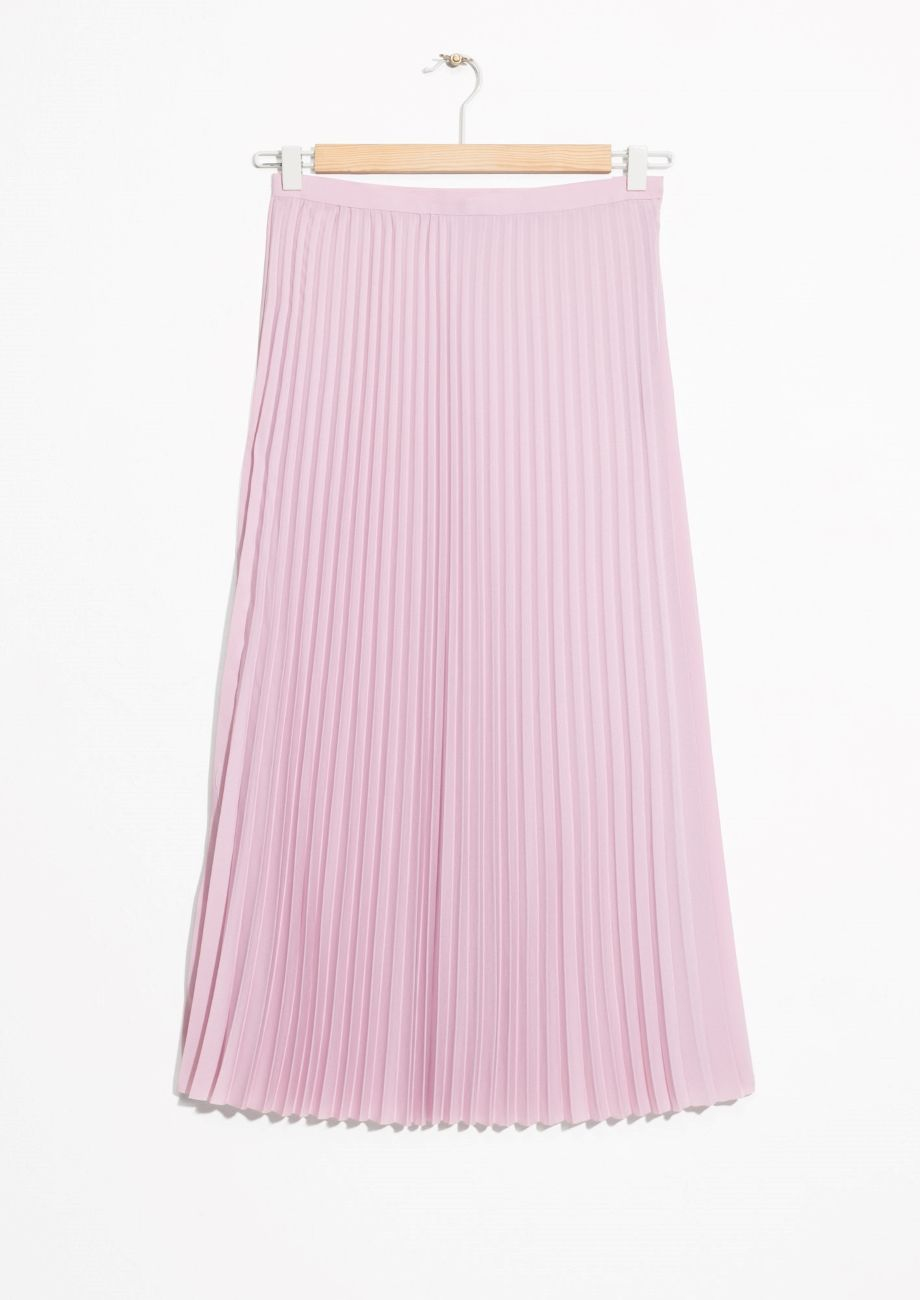 550f8fb53 & Other Stories image 2 of Pleated Midi Skirt in Pink Bluish | birf ...