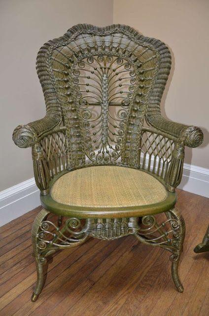 Imgenes Victorianas Mueble de ratan  Muebles