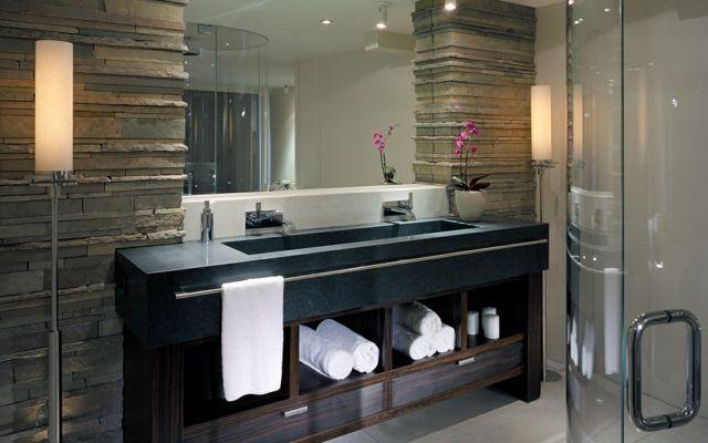 Naturstein Verblender Bad Gestaltung Bathroom Pinterest - naturstein bad