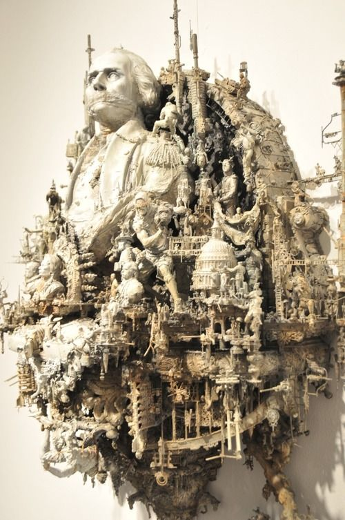 The detail in this is scary. Sculpture by Kris Kuksi.