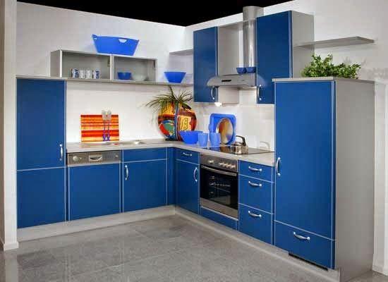 Ini 12 Gambar Desain Dapur Minimalis Warna Biru Blog Color
