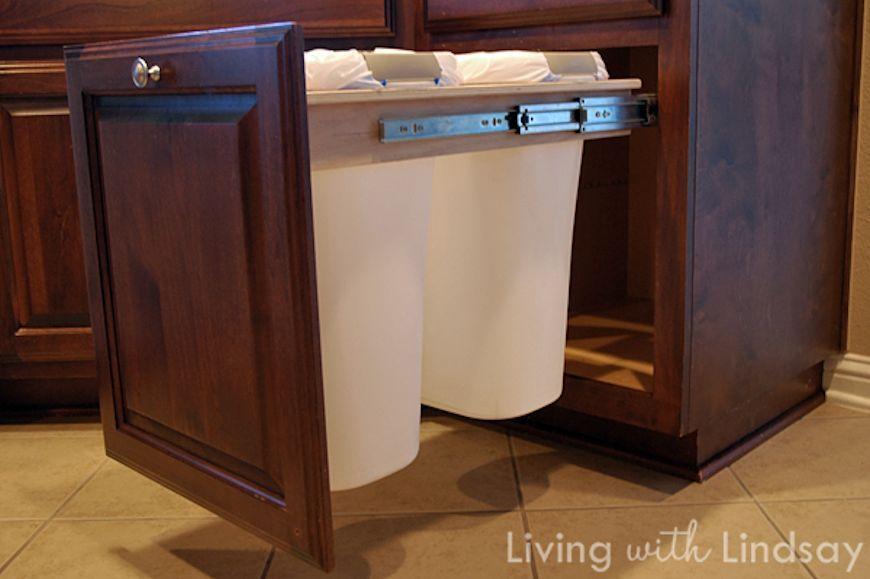 Kitchen Trash Can Drawer